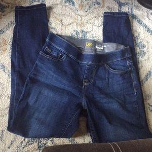 Lee dream jean legging mid rise medium wash size 4